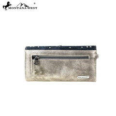 MW791-W018 Montana West Bling Bling Collection Secretary Style Wallet