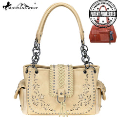 MW792G-8085 Montana West Embroidered Collection Concealed Carry Satchel Bag