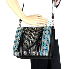 MW793-8094 Montana West Embroidered Collection Tote/Crossbody