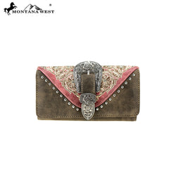 MW795-W018 Montana West Embroidered Collection Wallet