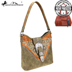 MW795G-916 Montana West Buckle Collection Concealed Carry Hobo
