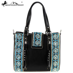 MW797-8094 Montana West Embroidered Collection Tote/Crossbody