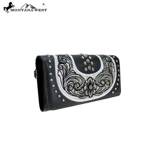 MW799-W018 Montana West Embroidered Collection Wallet