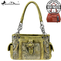 MW803G-8085 Montana West Buckle Collection Concealed Carry Satchel
