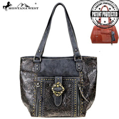MW803G-8318 Montana West Buckle Collection Concealed Carry Tote