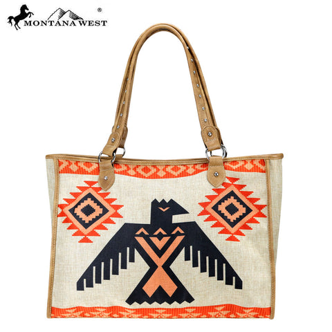 MW805-8112 Montana West Wild West Collection Canvas Tote Bag