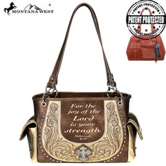 MW806G-8085  Montana West Scripture Bible Collection Concealed Carry Satchel