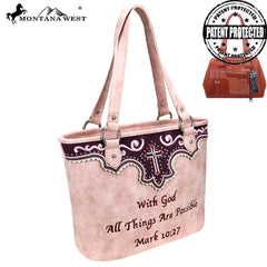 MW809G-8317 Montana West Spiritual Collection Concealed Carry Tote