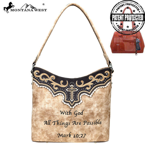MW809G-918 Montana West Spiritual Collection Concealed Carry Hobo