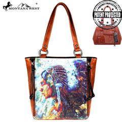 MW812G-8317 Montana West Aztec Collection Concealed Carry Tote