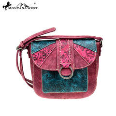 MW815-8360 Montana West Embossed Collection Crossbody