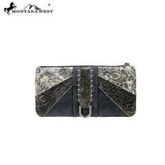 MW815-W021 Montana West Western Embossed Collection Wallet