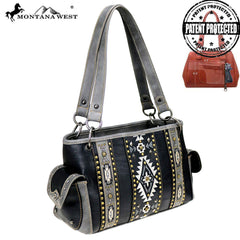 MW821G-8085 Montana West Aztec Collection Concealed Carry Satchel