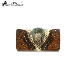 MW823-W018  Montana West Buckle Collection Wallet