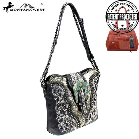MW823G-918 Montana West Buckle Collection Concealed Carry Shoulder/Crossbody Bag