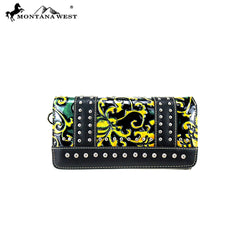 MW824-W018 Montana West Vintage Floral Collection Secretary Style Wallet