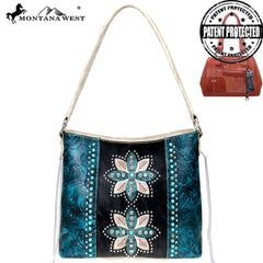 MW825G-918 Montana West Concho Collection Concealed Carry Hobo