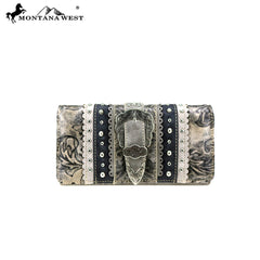 MW827-W018  Montana West Buckle Collection Wallet/Wristlet