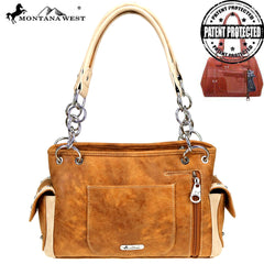 MW827G-8085 Montana West Buckle Collection Concealed Carry Satchel