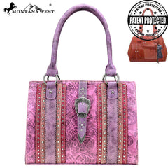 MW827G-8317 Montana West Buckle Collection Concealed Carry Tote