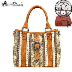 MW827G-8567 Montana West Buckle Collection Concealed Carry Satchel/Crossbody