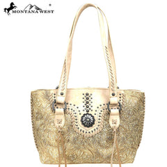 MW828-8318 Montana West Concho Collection Tote
