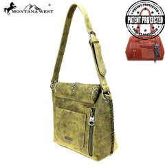 MW828G-8567 Montana West Concho Collection Concealed Carry Hobo