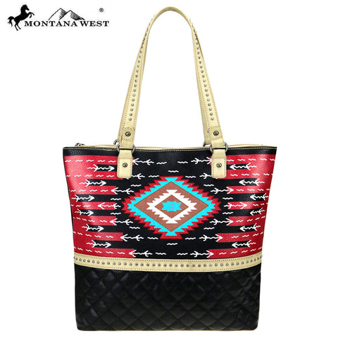 MW829-8113 Montana West Aztec Collection Tote