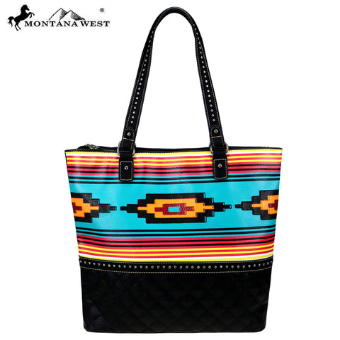 MW830-8113 Montana West Aztec Collection Tote