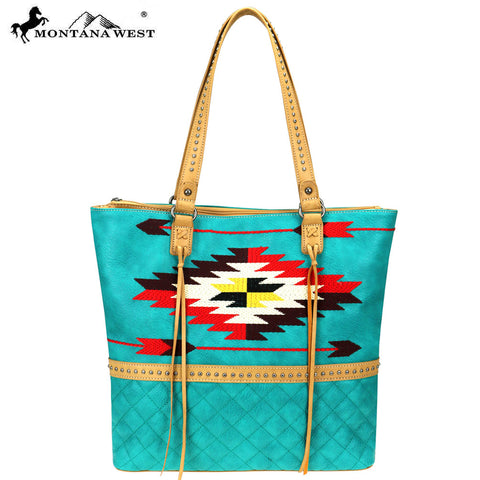 MW831-8113 Montana West Aztec Collection Tote