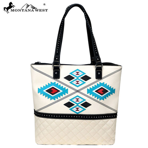 MW834-8113 Montana West Aztec Collection Tote