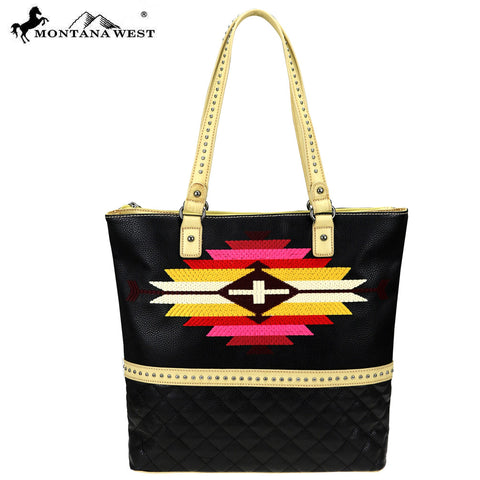 MW835-8113 Montana West Aztec Collection Tote