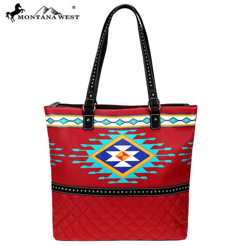 MW837-8113 Montana West Aztec Collection Tote