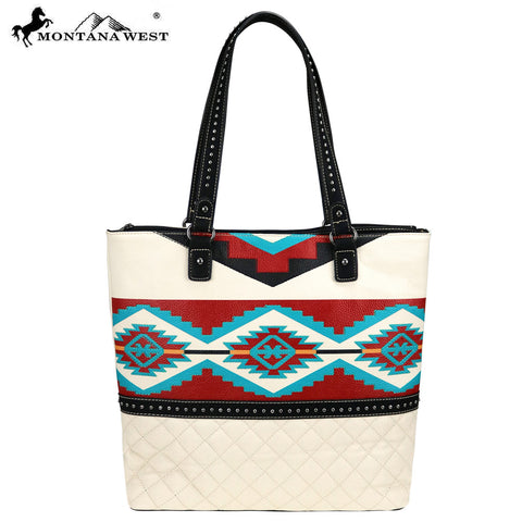 MW838-8113 Montana West Aztec Collection Tote