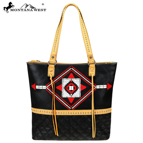 MW839-8113 Montana West Aztec Collection Tote