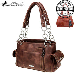 MW843G-8085 Montana West Horse Collection Concealed Carry Satchel