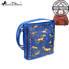 MW843G-9360 Montana West Horse Collection Concealed Carry Crossbody