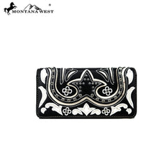 MW844-W018 Montana West Embroidered Collection Wallet