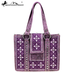 MW845-8567  Montana West Embroidered Collection Tote/Crossbody
