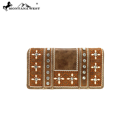 MW845-W010 Montana West Embroidered Collection Wallet