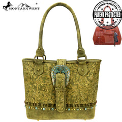 MW847G-8317 Montana West Buckle Collection Concealed Carry Tote