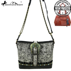 MW847G-8390 Montana West Buckle Collection Concealed Carry Shoulder/Crossbody