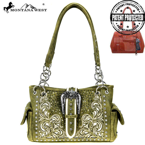 MW848G-8085 Montana West Buckle Collection Concealed Carry Satchel