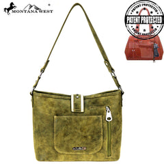 MW848G-918 Montana West Buckle Collection Concealed Carry Hobo