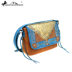 MW849-8360 Montana West Embossed Collection Crossbody Bag