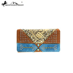 MW849-W010 Montana West Embossed Collection Wallet
