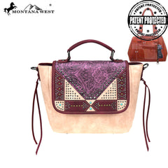 MW849G-8262 Montana West Embossed Collection Concealed Carry Tote/Crossbody