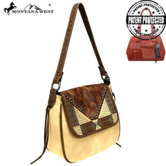 MW849G-918 Montana West Embossed Collection Concealed Carry Hobo