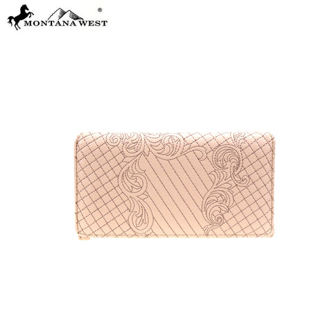 MW851-W010 Montana West Embroidered Collection Wallet