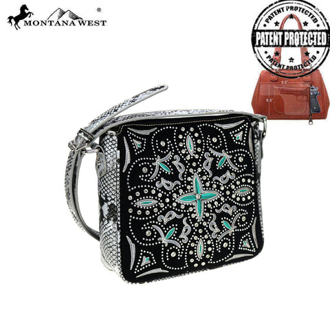 MW852G-9360  Montana West Embroidered Collection Concealed Carry Crossbody Bag